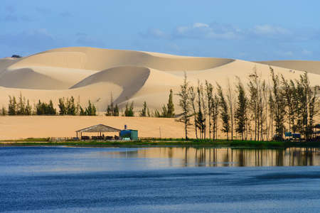 White sand dune in Mui Ne, Vietnam  photo