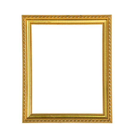 gold frame: Golden photo frame isolated on white background