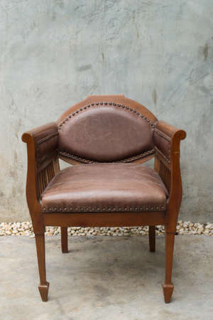 Vintage leather chair with clipping path Stock Photo - 18967613