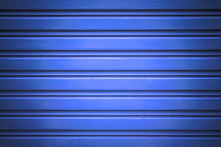 Blue corrugated metal sheet photo