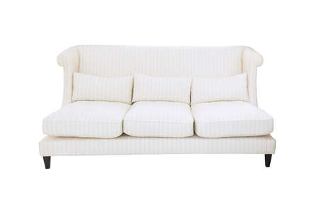 White sofa isolated on white background  Stock Photo - 20793068