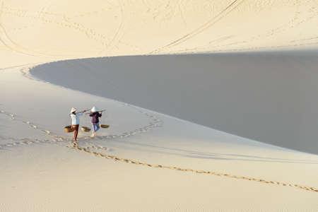 ne: White sand dune in Mui Ne, vietnam