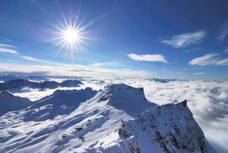 zugspitze mountain: Snow mountain, Zugspitze, Germany