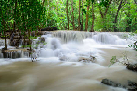 Hauy Mae Kamin Waterfall, Kanchanaburi, Thailand photo