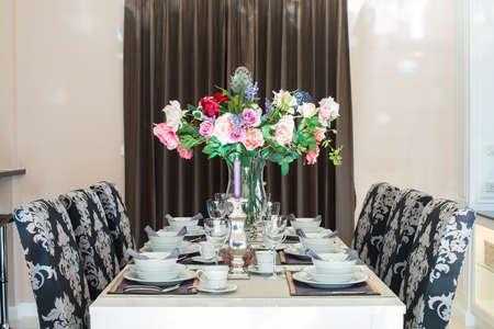 luxurious: Luxurious dining table Stock Photo