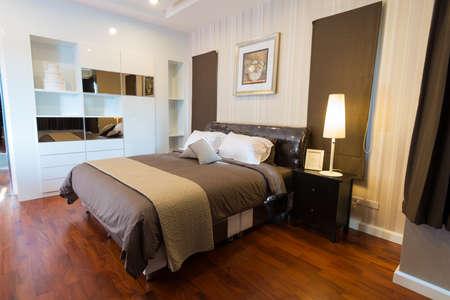 bedroom: Modern bedroom interior
