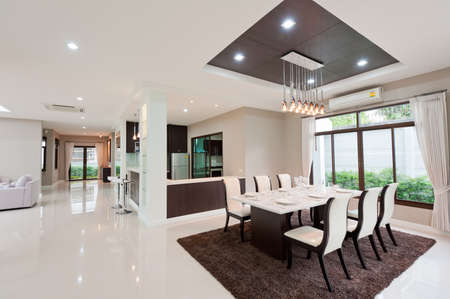 interior designers: Modern dining room Stock Photo