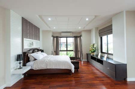 luxury apartment: Modern bedroom interior