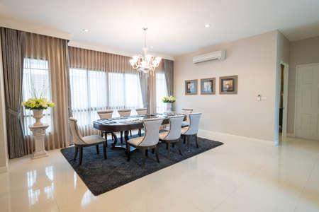 dining room: Modern dining room interior Stock Photo