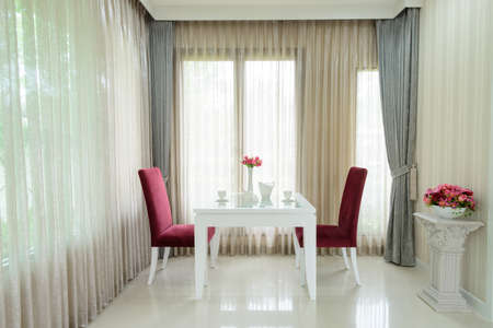 Modern dining room interior photo