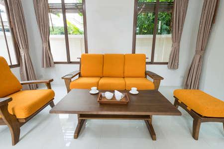 Modern dining room interior Stock Photo