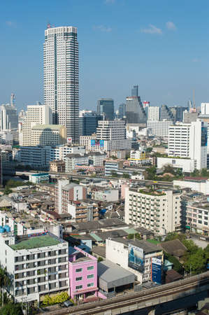 krung: BANGKOK, February 21 : Bangkok view from abandon tower on February 21, 2015. Bangkok is the capital and the most populous city of Thailand. It is known in Thai as Krung Thep Maha Nakhon.