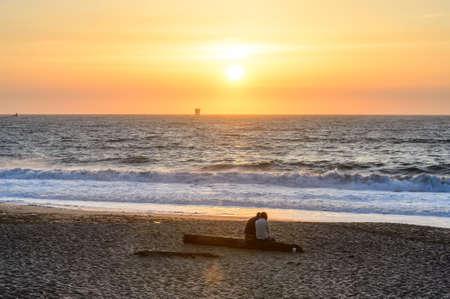 Sunset at Baker beach San Francisco Stock Photo