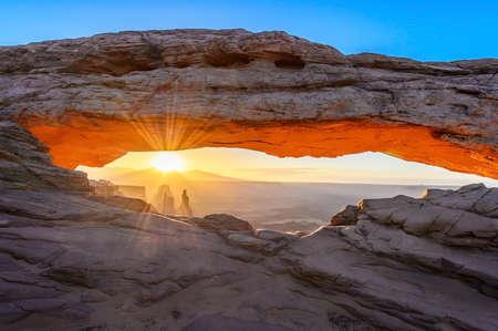 mesa: Sunrise at Mesa arch USA Stock Photo