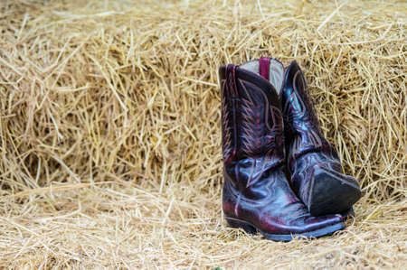 leather boots: Vintage cowboy boots
