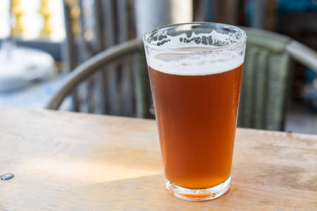 ale: Pint of crafted ale Stock Photo