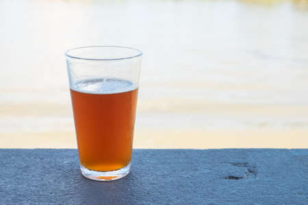pint: Pint of crafted ale Stock Photo