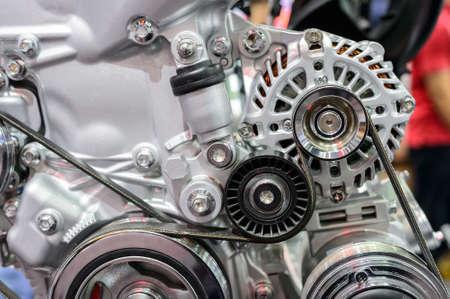 engine: Close up of car engine