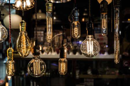 ceiling design: Old vintage light bulb