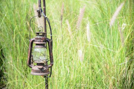 kerosene: vintage kerosene oil lantern lamp
