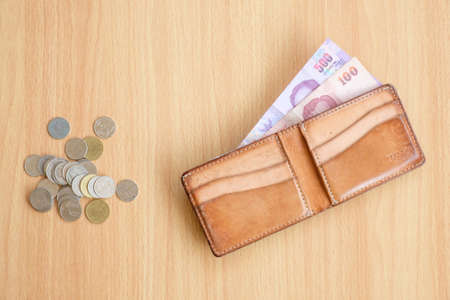 savings problems: Coins wallet money
