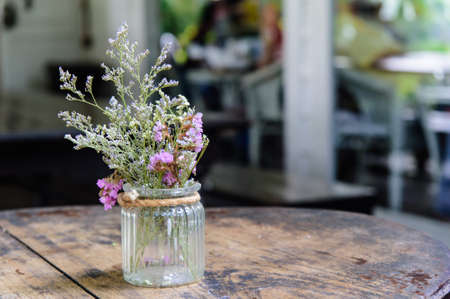 artificial flower: Vase with artificial flower