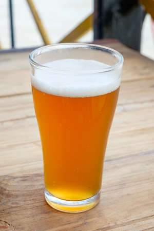 ipa: Craft beer in the glass Stock Photo