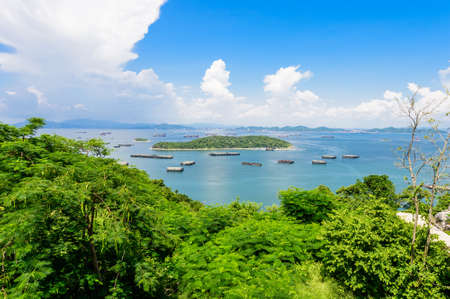 Top view of koh sichang, island ,thailand