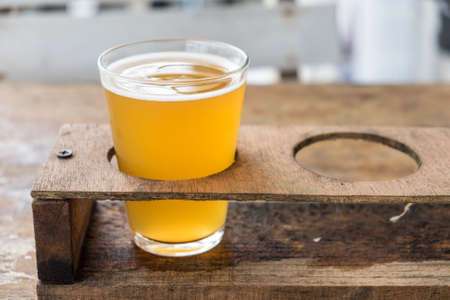 pilsner glass: Craft beer in the glass Stock Photo