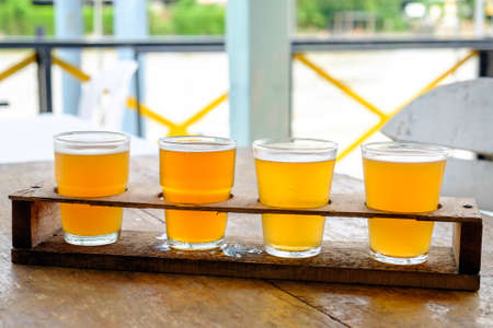 Craft beer in the glass Stock Photo