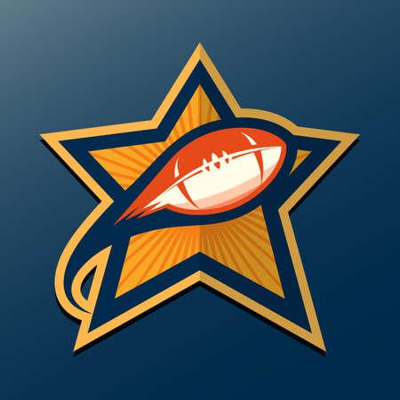 American Football Logo Template; Vector College Logos Illustration