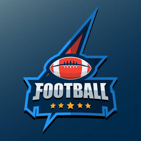 American Football Logo Template. Vector College Logos Illustration Stock Vector - 92101089
