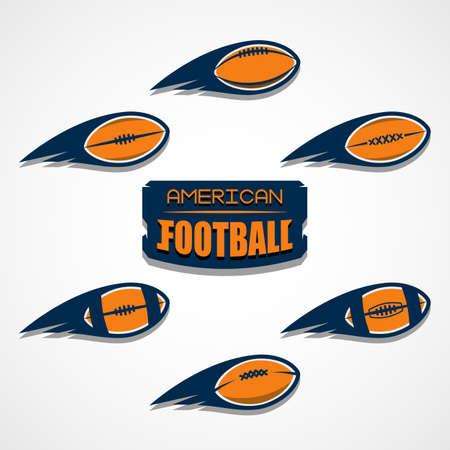 American football  template vector college illustration. Ilustração