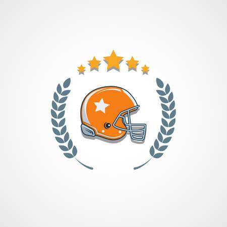 American football  template vector college illustration. Vettoriali