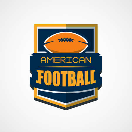 American football  template vector college illustration. Vectores