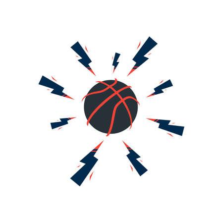 Basketball Player Logo Template. Creative Sport Game Vector Illustration