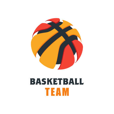 Basketbalspeler Logo sjabloon. Creatieve Sport Game Vector Illustratie