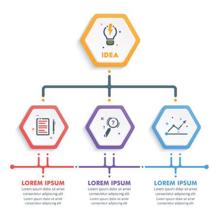 Business Infographic Template.Modern Hexagonal Infographics Timeline Design Template.Vector Illustration Illustration