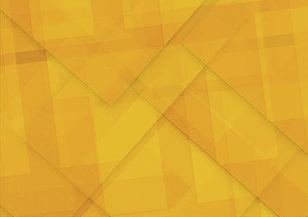 Abstract yellow background squares rectangles and triangles in geometric pattern design. Textured yellow orange paper. Diagonal block pattern. Diamond shapes and line design elements.