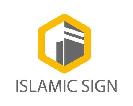 kaaba vector illustration icon. Hejaz