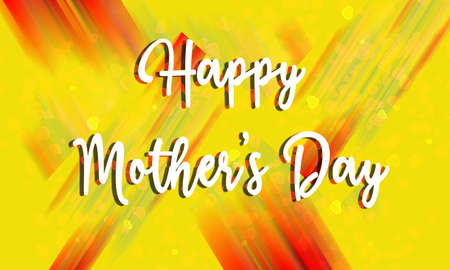 Happy mothers day card with modern calligraphy, holiday poste. background design