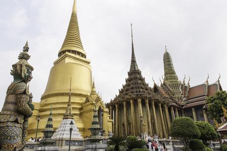 phra si rattana chedi: Phra Si Rattana Chedi,Phra Mondhop,Prasat Phra Thepbion the Royal Pantheon Stock Photo