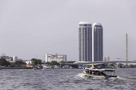 Chao Phraya Express Boat on chao phraya river