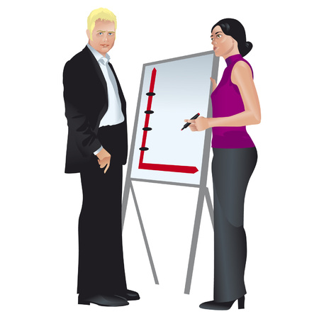 businessmeeting: painted colorfull businessmeeting Illustration