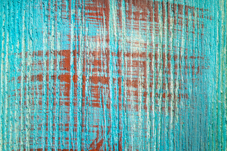 varnished: Blue wooden boards with brown strokes. Wood texture. Stock Photo
