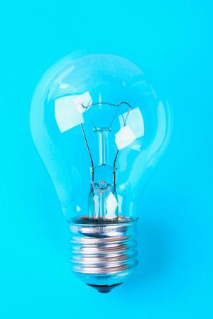 Glasses Light bulb idea concept. minimal concept Stock Photo