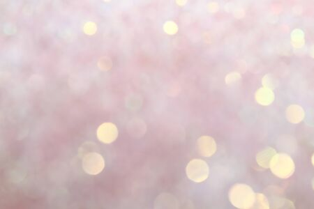 Blurred Bokeh. Holiday glowing backdrop. Christmas light background. Defocused Background With Blinking Stars. Zdjęcie Seryjne