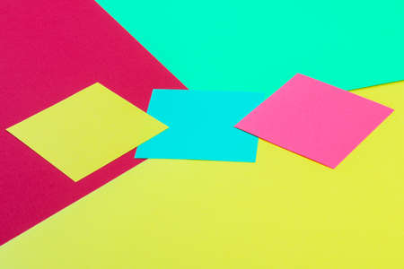 Colored paper in geometric. Bright color paper texture background. Trend colors, geometric paper background. Colorful of soft paper background.