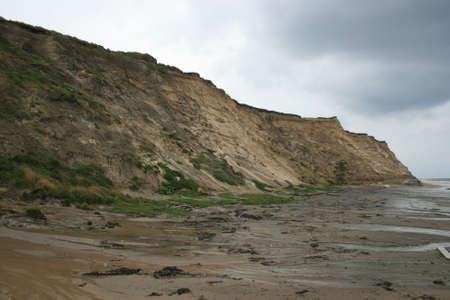 steep: steep coast at summer