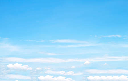 blue: The vast blue sky and clouds sky